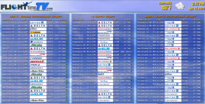 Flight List Screenshot